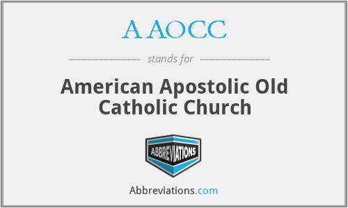 AAOCC - American Apostolic Old Catholic Church
