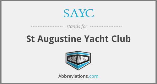 SAYC - St Augustine Yacht Club