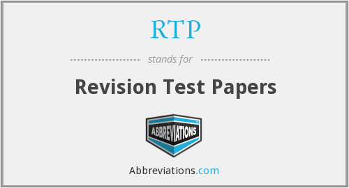 RTP - Revision Test Papers
