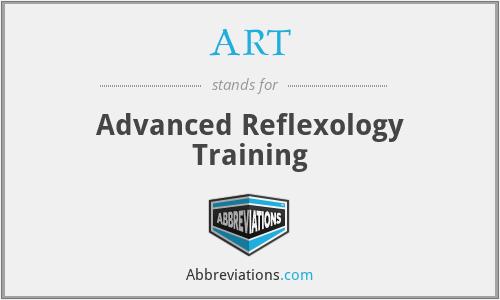ART - Advanced Reflexology Training