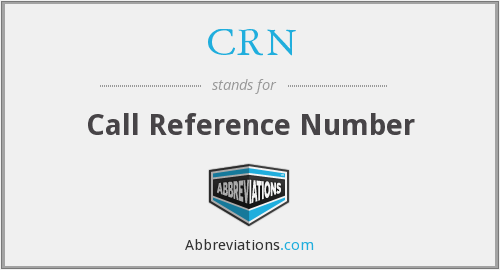 What does CRN stand for?