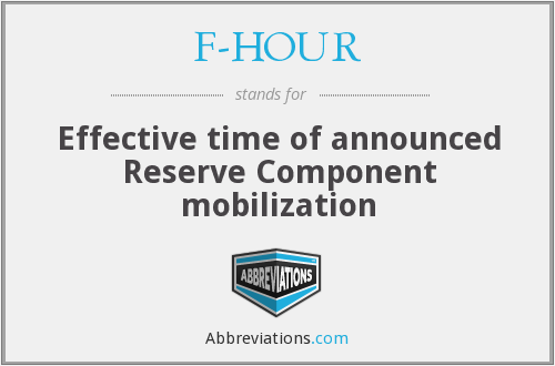 F-HOUR - Effective time of announced Reserve Component mobilization