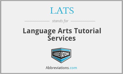 LATS - Language Arts Tutorial Services