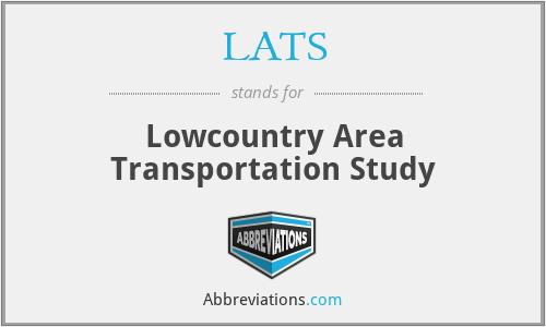 LATS - Lowcountry Area Transportation Study