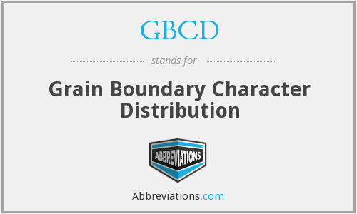 What does GBCD stand for?