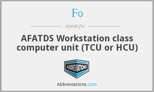 F0 - AFATDS Workstation class computer unit (TCU or HCU)