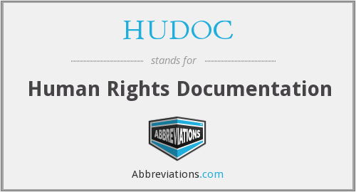 What does HUDOC stand for?