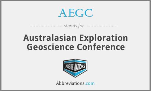 AEGC - Australasian Exploration Geoscience Conference