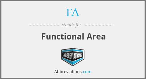 FA - Functional Area