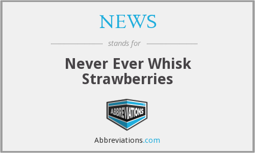 What does strawberries stand for?