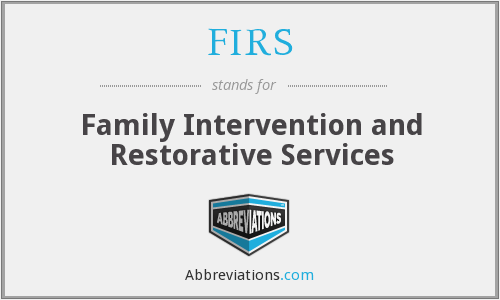 FIRS - Family Intervention and Restorative Services