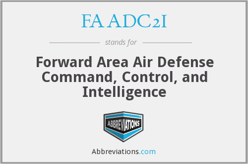 FAADC2I - Forward Area Air Defense Command, Control, and Intelligence
