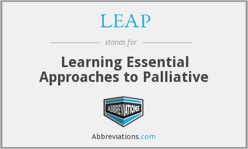 LEAP - Learning Essential Approaches to Palliative