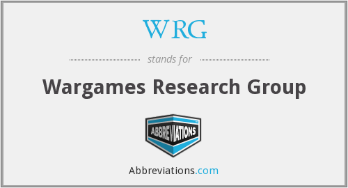 WRG - Wargames Research Group