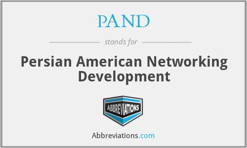 PAND - Persian American Networking Development