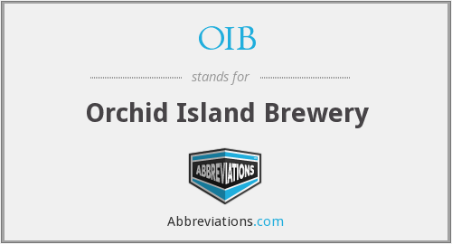 OIB - Orchid Island Brewery