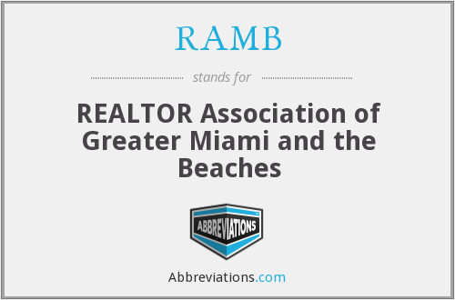 RAMB - REALTOR Association of Greater Miami and the Beaches