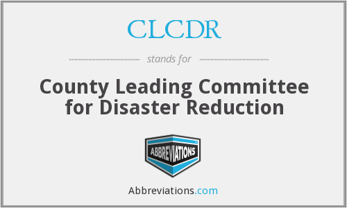 What does CLCDR stand for?