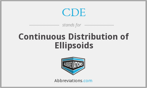 CDE - Continuous Distribution of Ellipsoids