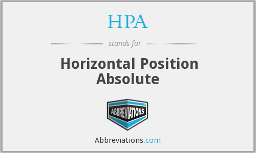 HPA - Horizontal Position Absolute