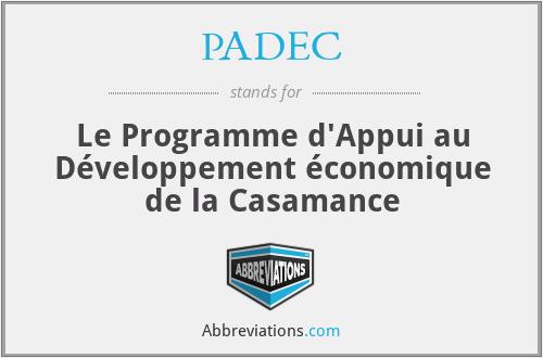 PADEC - Le Programme d'Appui au Développement économique de la Casamance