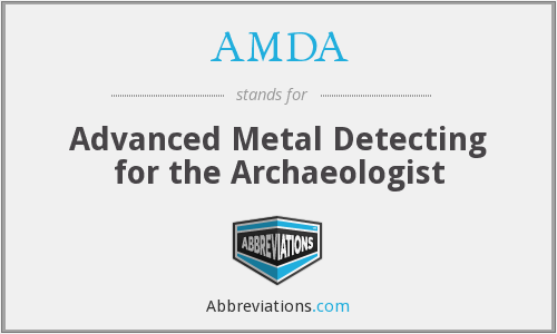 AMDA - Advanced Metal Detecting for the Archaeologist