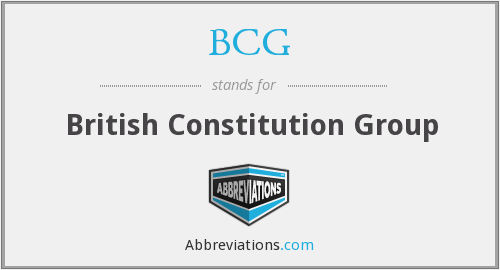 BCG - British Constitution Group