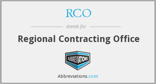 RCO - Regional Contracting Office