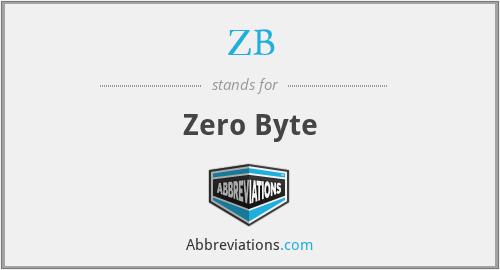 ZB - Zero Byte