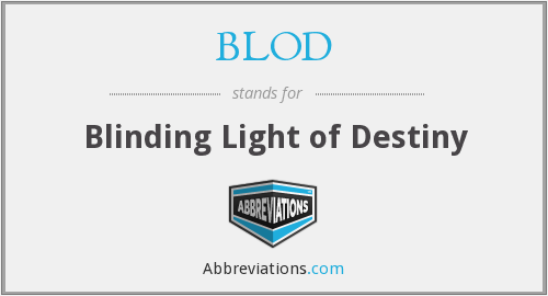 What does BLOD stand for?
