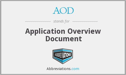 AOD - Application Overview Document