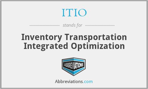 ITIO - Inventory Transportation Integrated Optimization