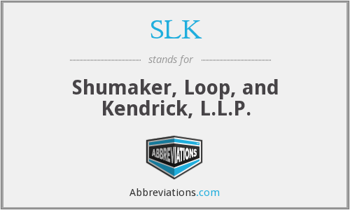 SLK - Shumaker, Loop, and Kendrick, L.L.P.