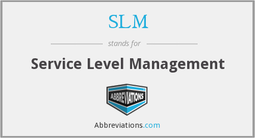 What does SLM stand for?
