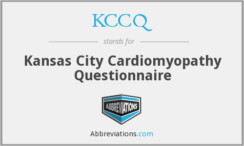 What does KCCQ stand for?