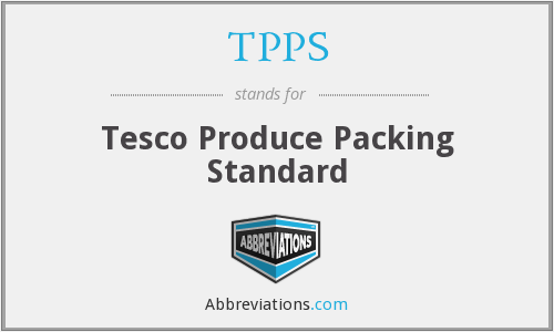 TPPS - Tesco Produce Packing Standard
