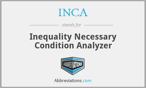 INCA - Inequality Necessary Condition Analyzer