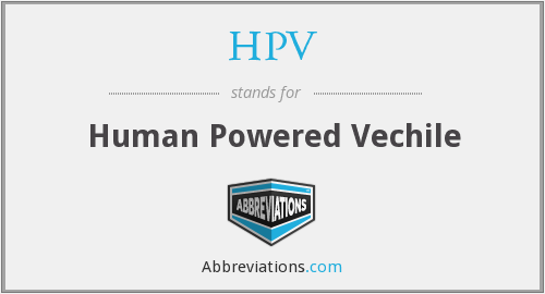 HPV - Human Powered Vechile