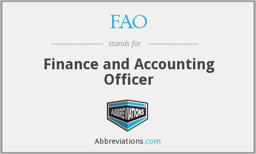 FAO - Finance and Accounting Officer
