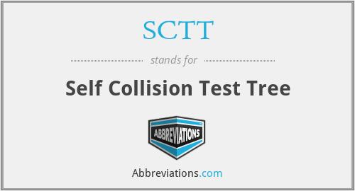 SCTT - Self Collision Test Tree