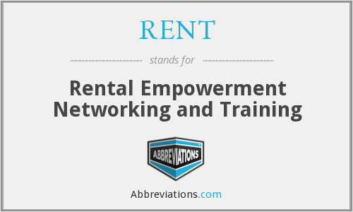 What does RENT stand for?