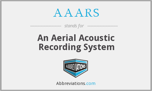AAARS - An Aerial Acoustic Recording System