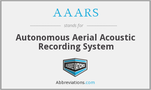 AAARS - Autonomous Aerial Acoustic Recording System