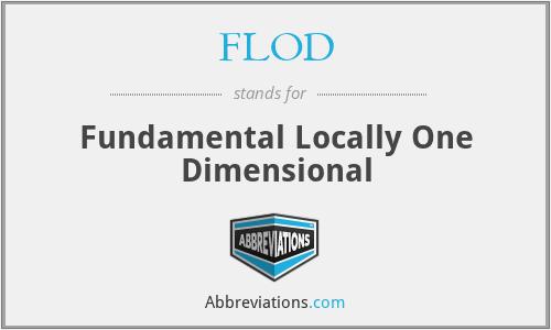 FLOD - Fundamental Locally One Dimensional