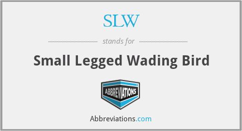 SLW - Small Legged Wading Bird