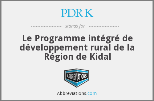 What does PDRK stand for?