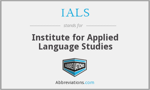 IALS - Institute for Applied Language Studies