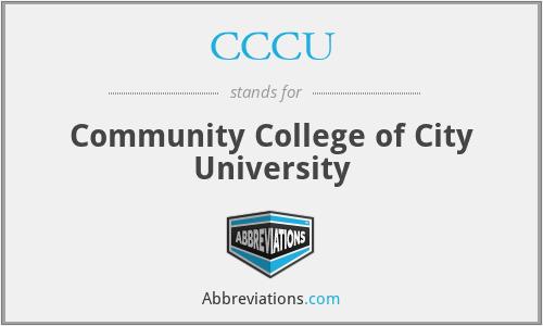 CCCU - Community College of City University