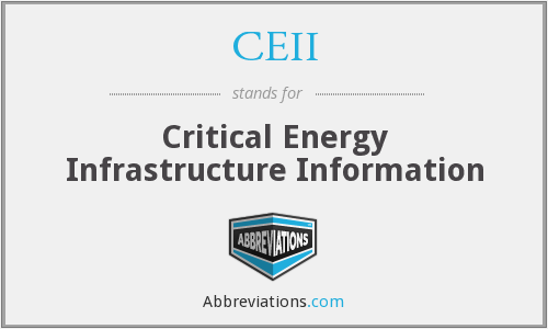 What does CEII stand for?