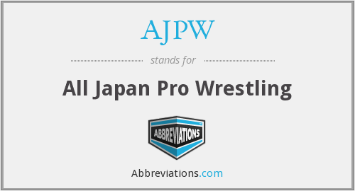 What does AJPW stand for?